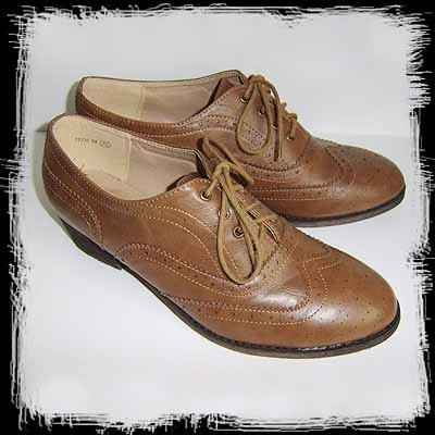 brown brogues primark