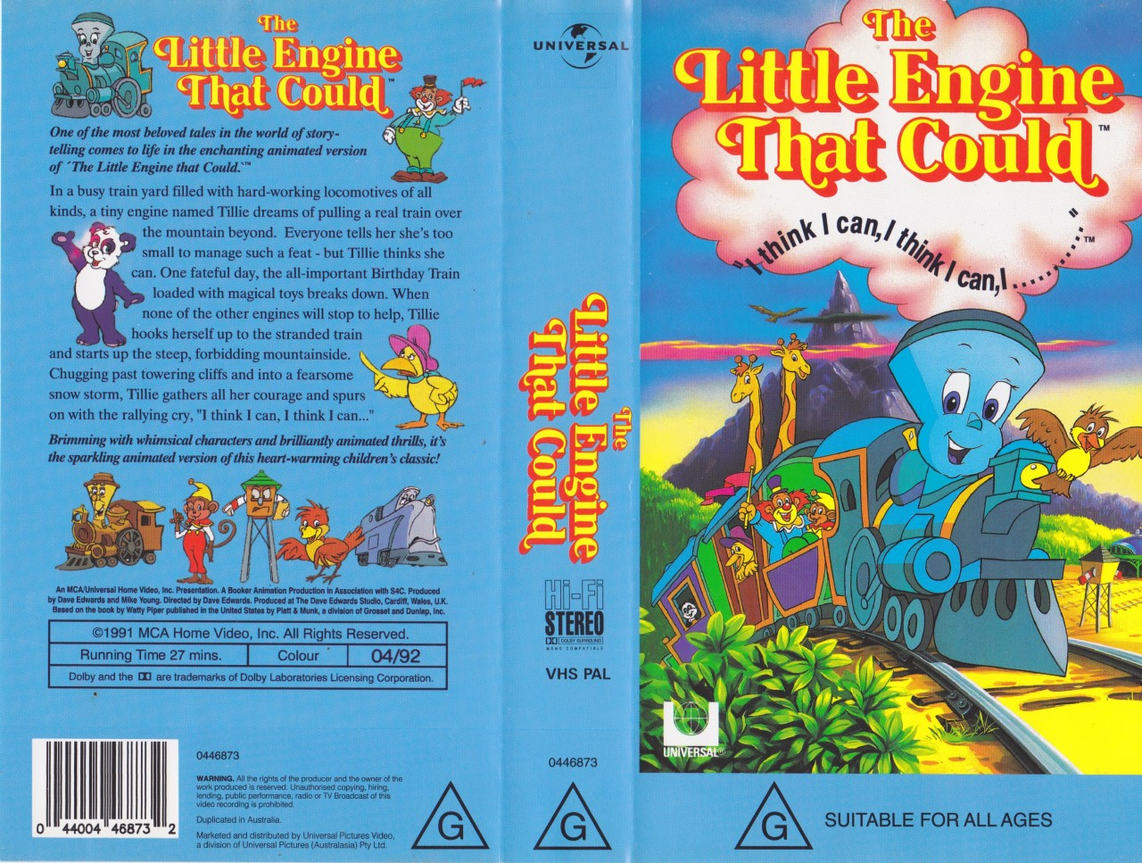 The Little Engine That Could Rare Fiind Vhs Pal Video