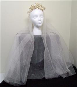 Vintage Veil with Seed Pearls