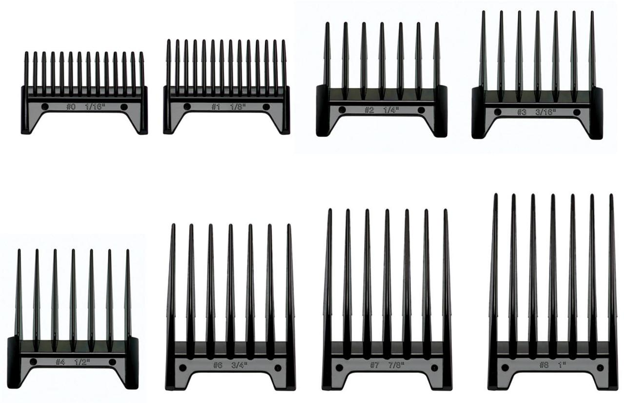 Oster 8 Piece Universal Clipper Guide Attachment Combs Set