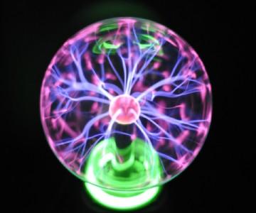 Large 8quot Glass Sphere Lightning Plasma Ball eBay