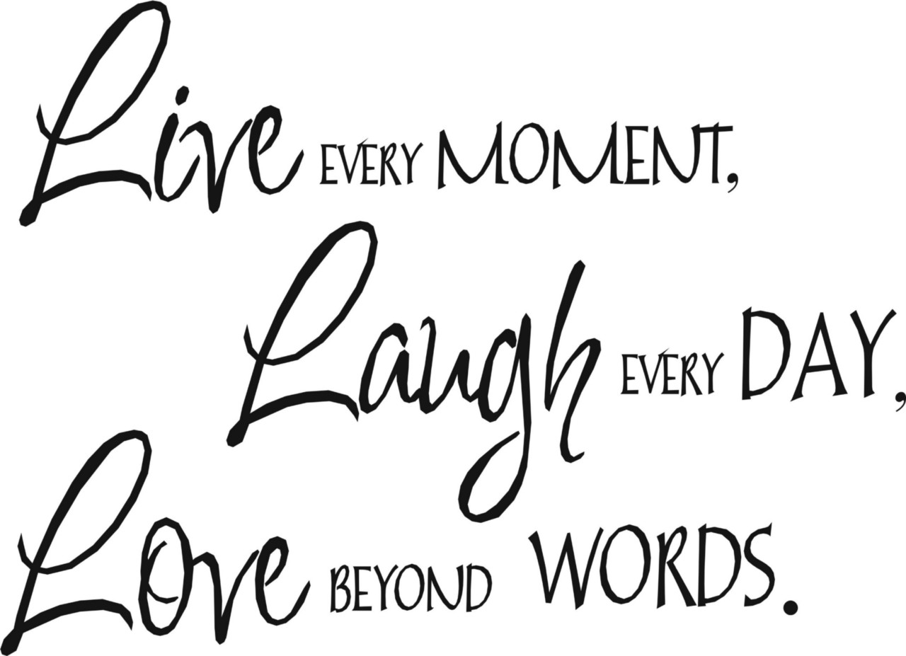 Wall Quote Art Sticker Live Laugh Love 3 Sizes