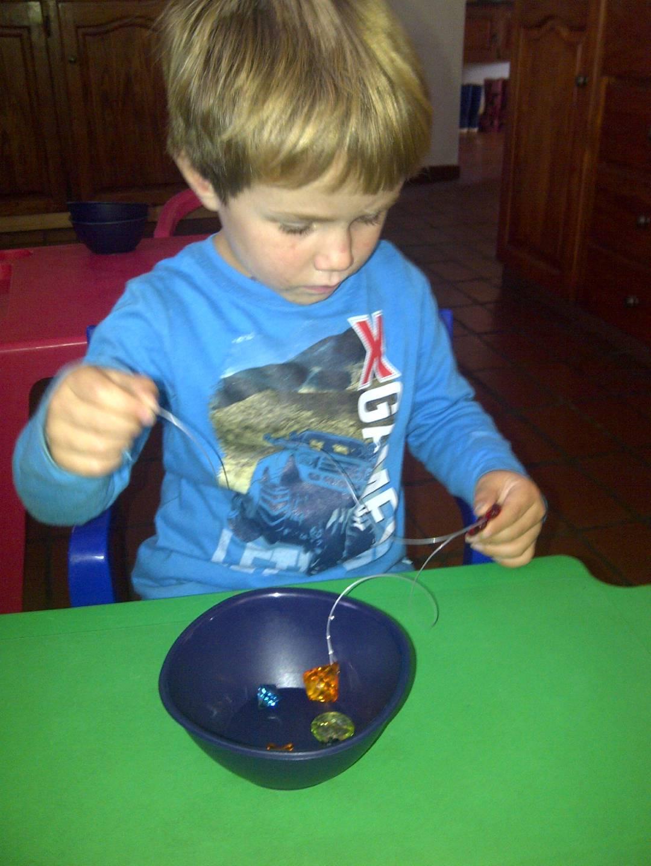 Fun making a beaded suncatcher