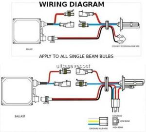 35W H4 H42 Xenon HID Conversion Kit Slim Ballast & Bulbs