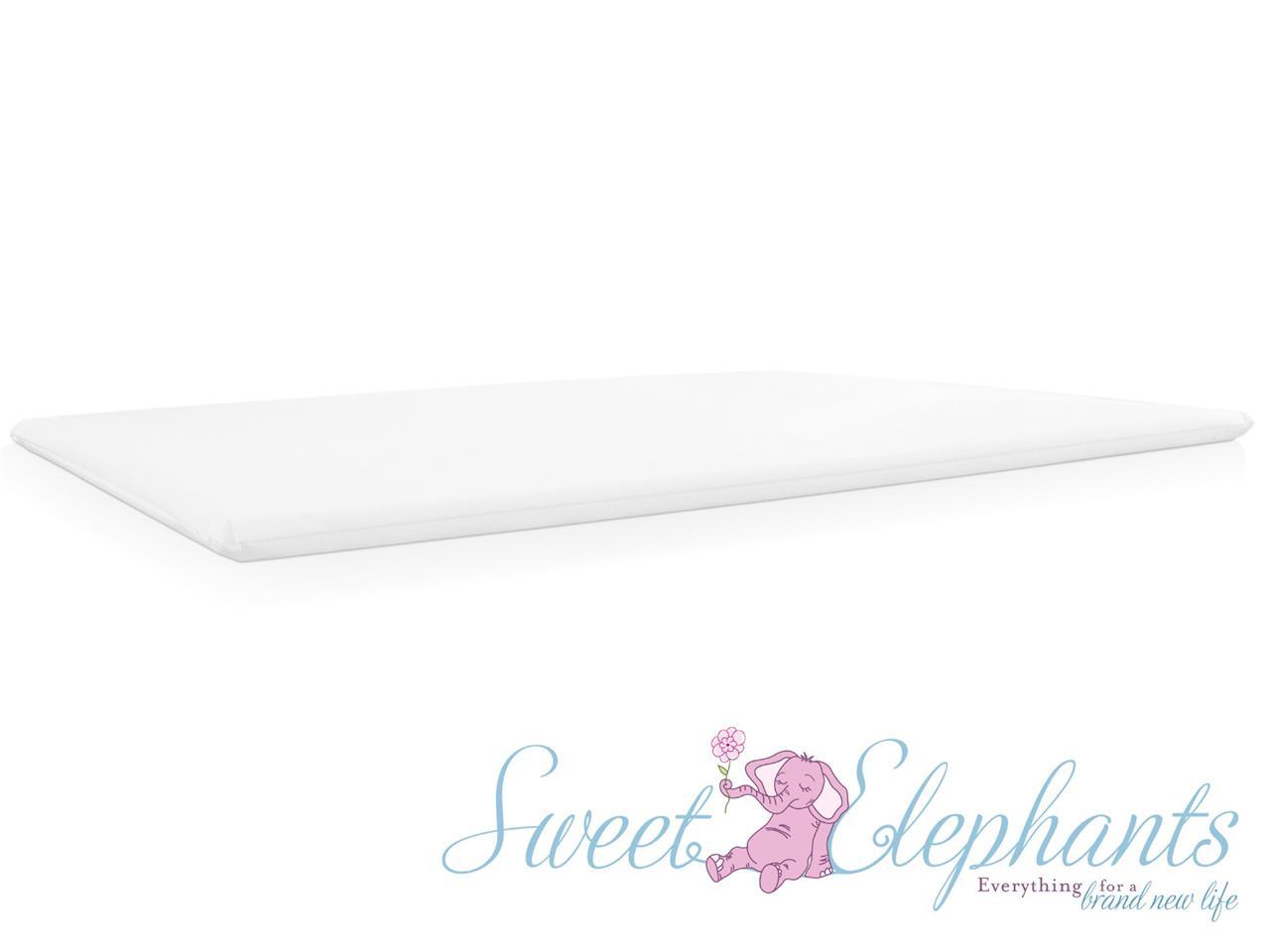 New Universal White Baby Cot Side Rail Change Table Free Bonus Mattress