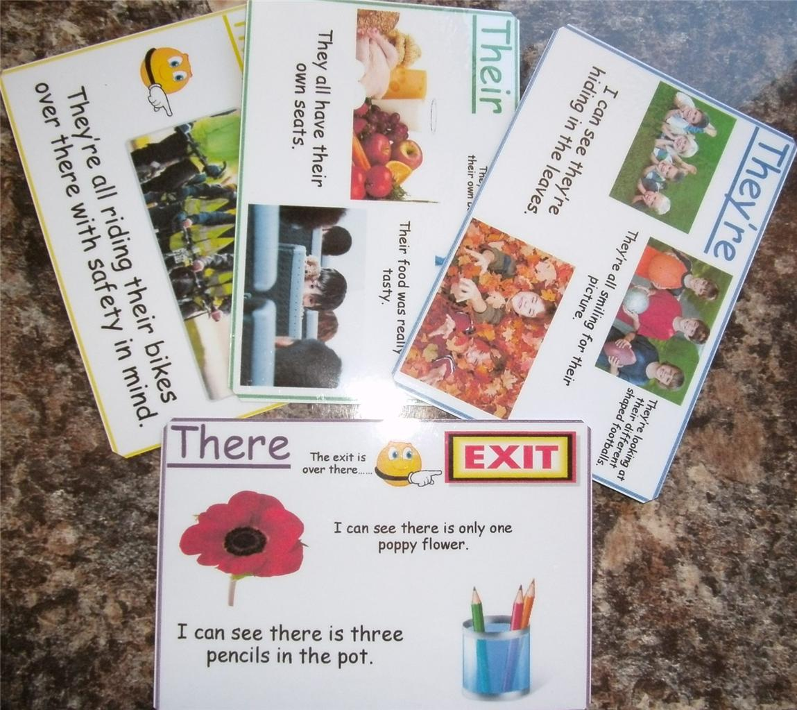 Homograph Amp Homophone Explanation Flash Cards Posters