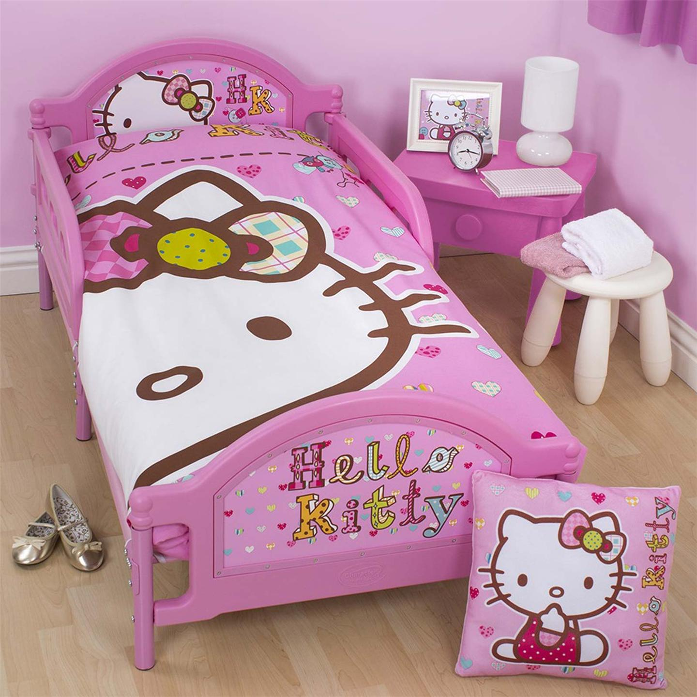 Hello Kitty Folk Junior Toddler Bed With Mattress New
