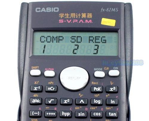 Casio FX-82MS Scientific 2-Line Display Calculator Digital ...