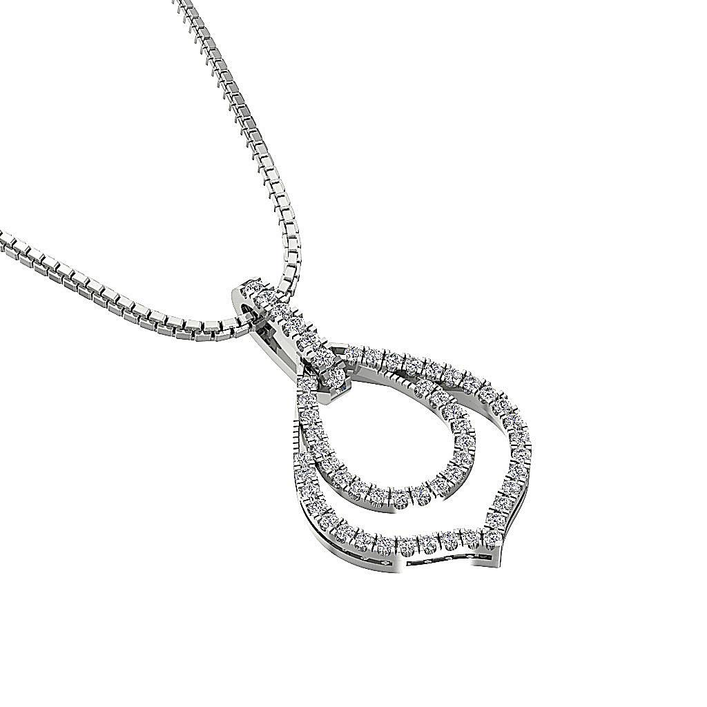Si1 G 0 40 Ct Round Diamond Fashion Pendant Necklace 14k