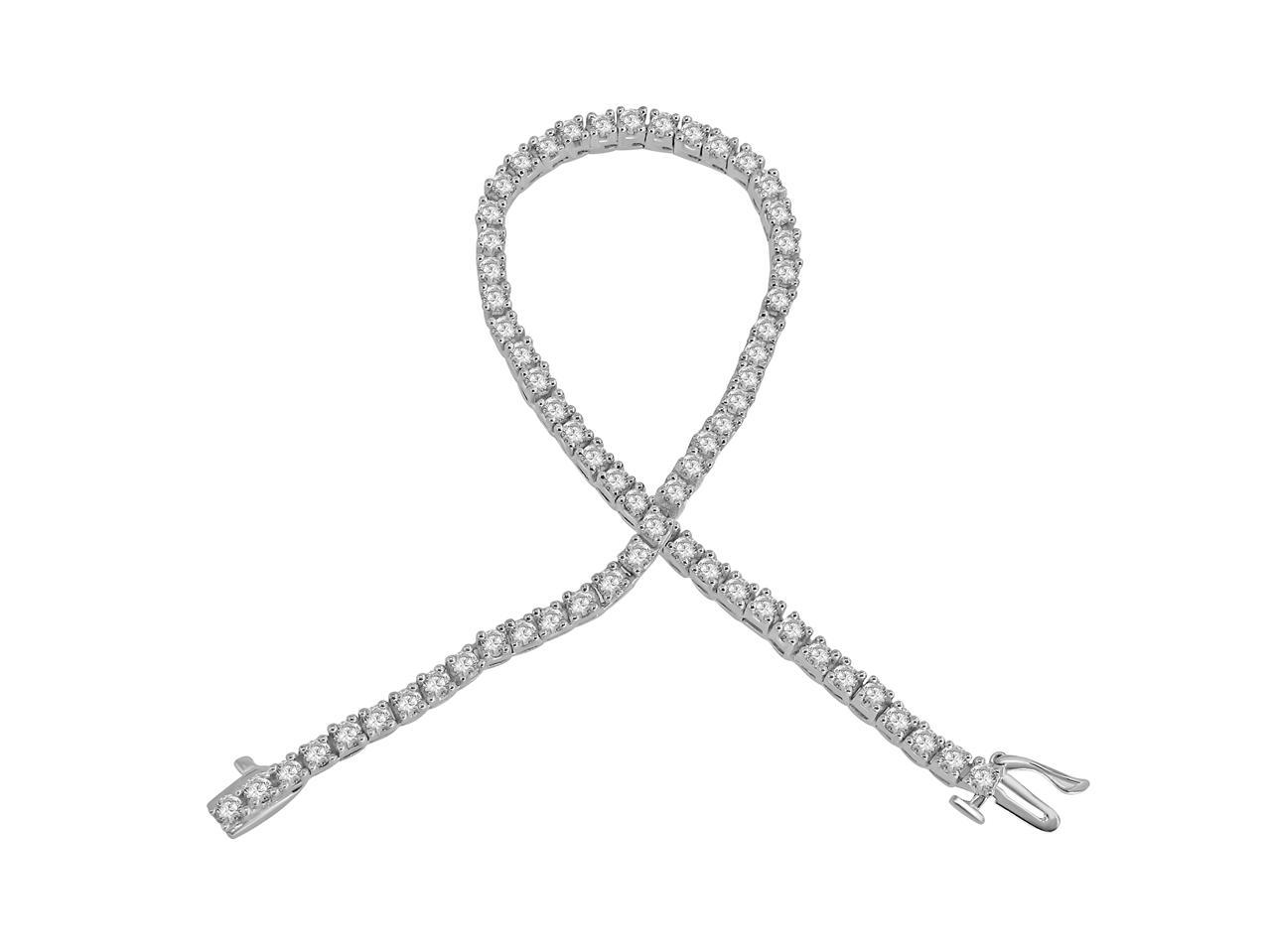 Si1 G 3 10 Ct Round Cut Diamond Tennis Bracelet 14k Solid