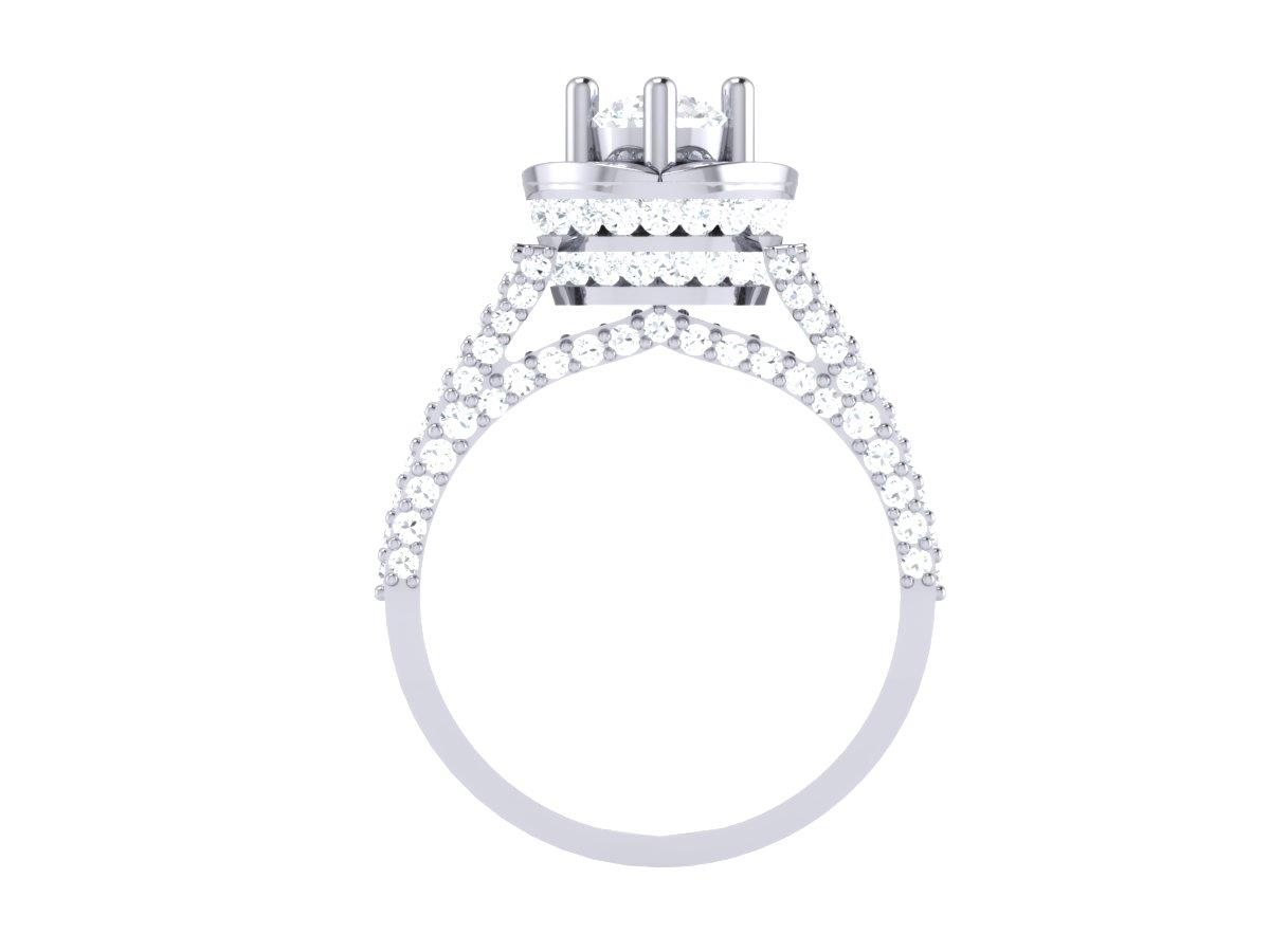 Accent Solitaire Ring Si1 G 2 30 C Real Diamond Prong