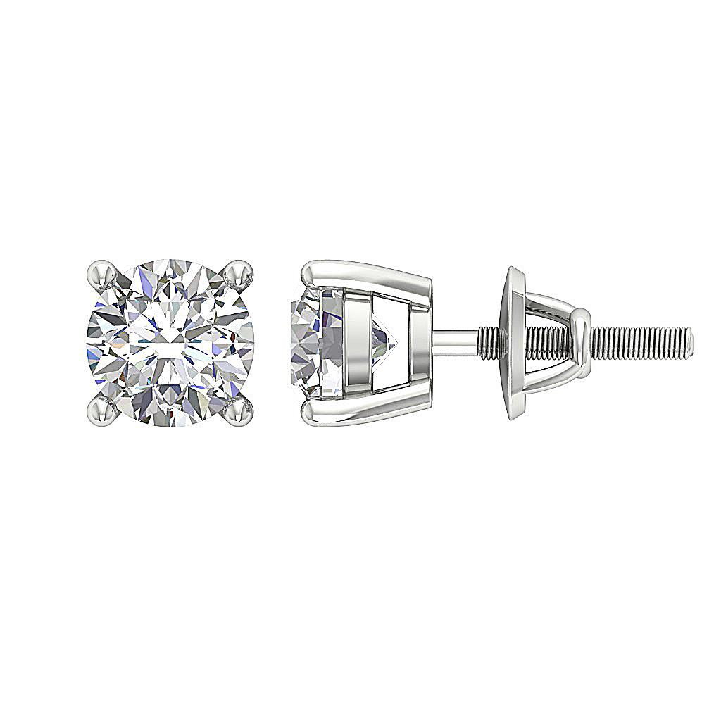 Real Diamond I1 G 0 65 Ct Solitaire Stud Earrings 14k