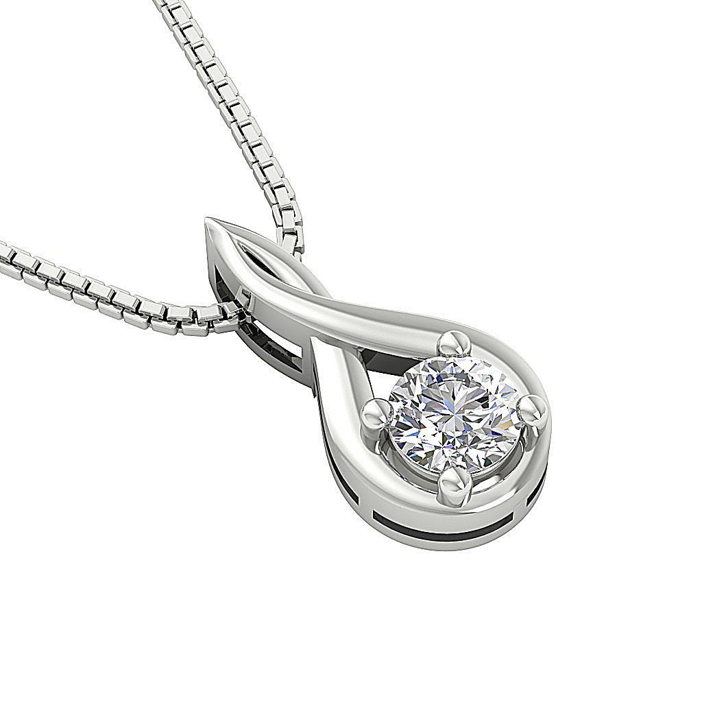 Si1 G 0 50ct Genuine Diamond Solitaire Pendant Necklace