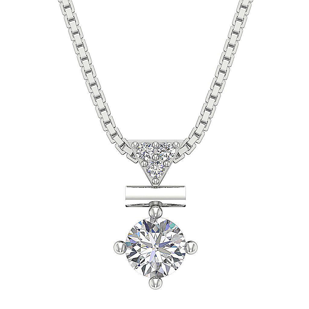 Natural Diamond I1 G 0 50 Ct Fashion Pendant Necklace