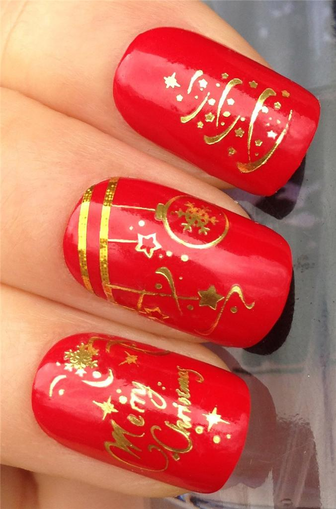 Image Is Loading Christmas Nail Art Water Decals Transfers Stickers Tree