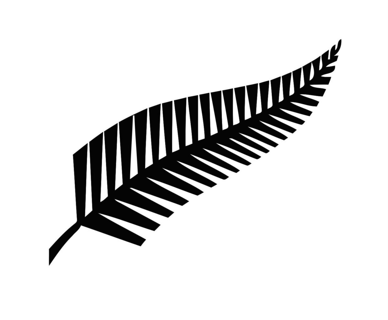All Black Kiwi Leaf Sticker Decal