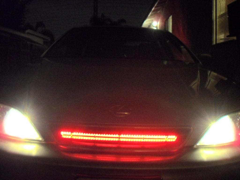 50cm 48 Led Red Car Auto Flash Strobe Knight Rider Light