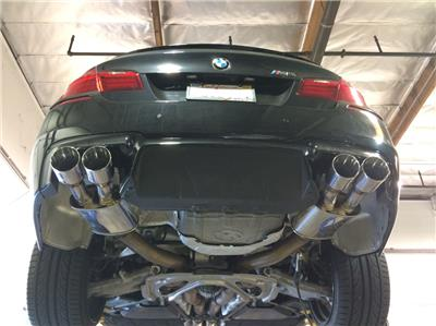 details about megan stainless steel axleback exhaust fits bmw f10 m5 11 16 stainless roll tips
