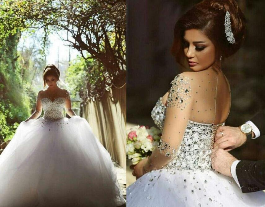 Corset White Ivory Wedding Dress Cathedral/Church Ball