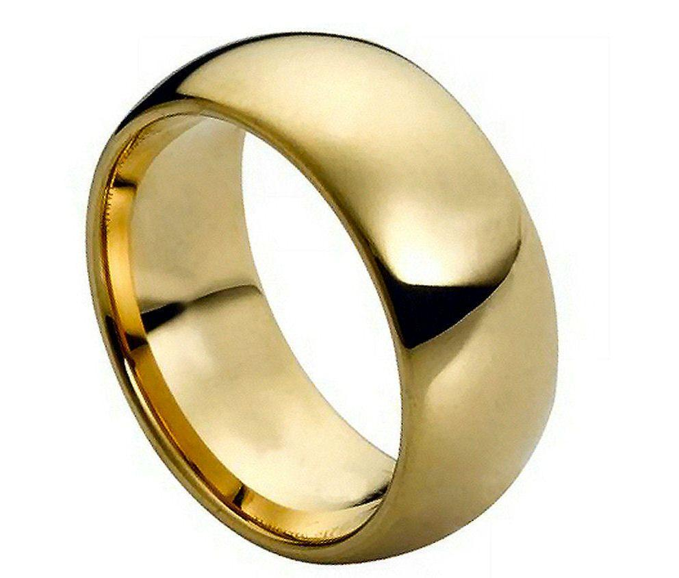 NEW 45 18K GOLD TUNGSTEN WEDDING BAND Wedding Band Gold