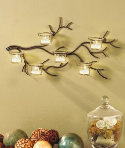 Tree Branch Metal Candle Holder Sconce Wall Art Decor   eBay on Decorative Wall Sconces Candle Holders Centerpieces Ebay id=67223