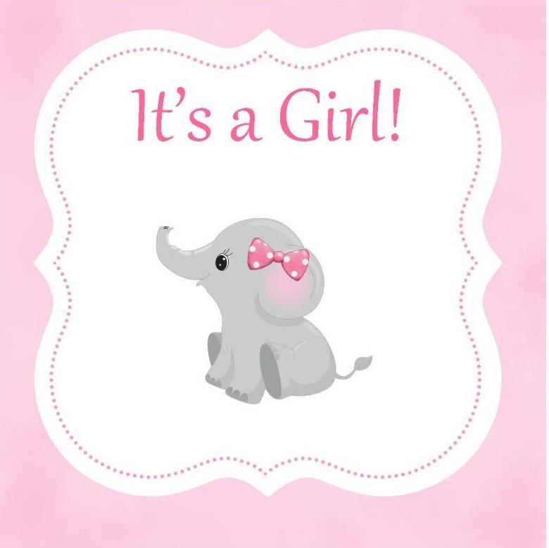 Its Girl Elephant Border