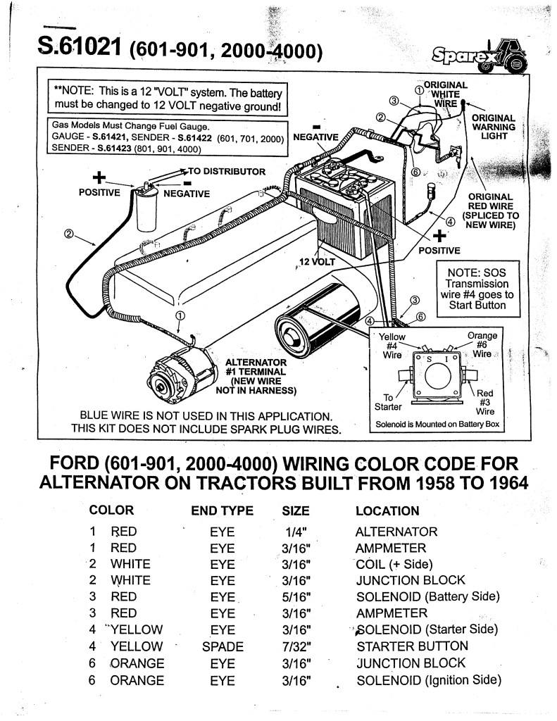 Ford 801 Tractor Wiring Diagram Wiring Library