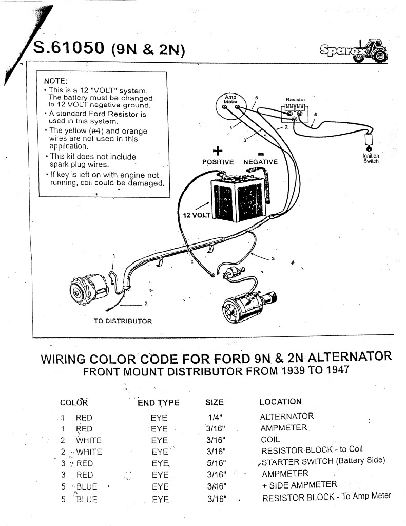 Ford 3600 Tractor Alternator Wiring Diagram : Ford tractor altenator wiring diagram