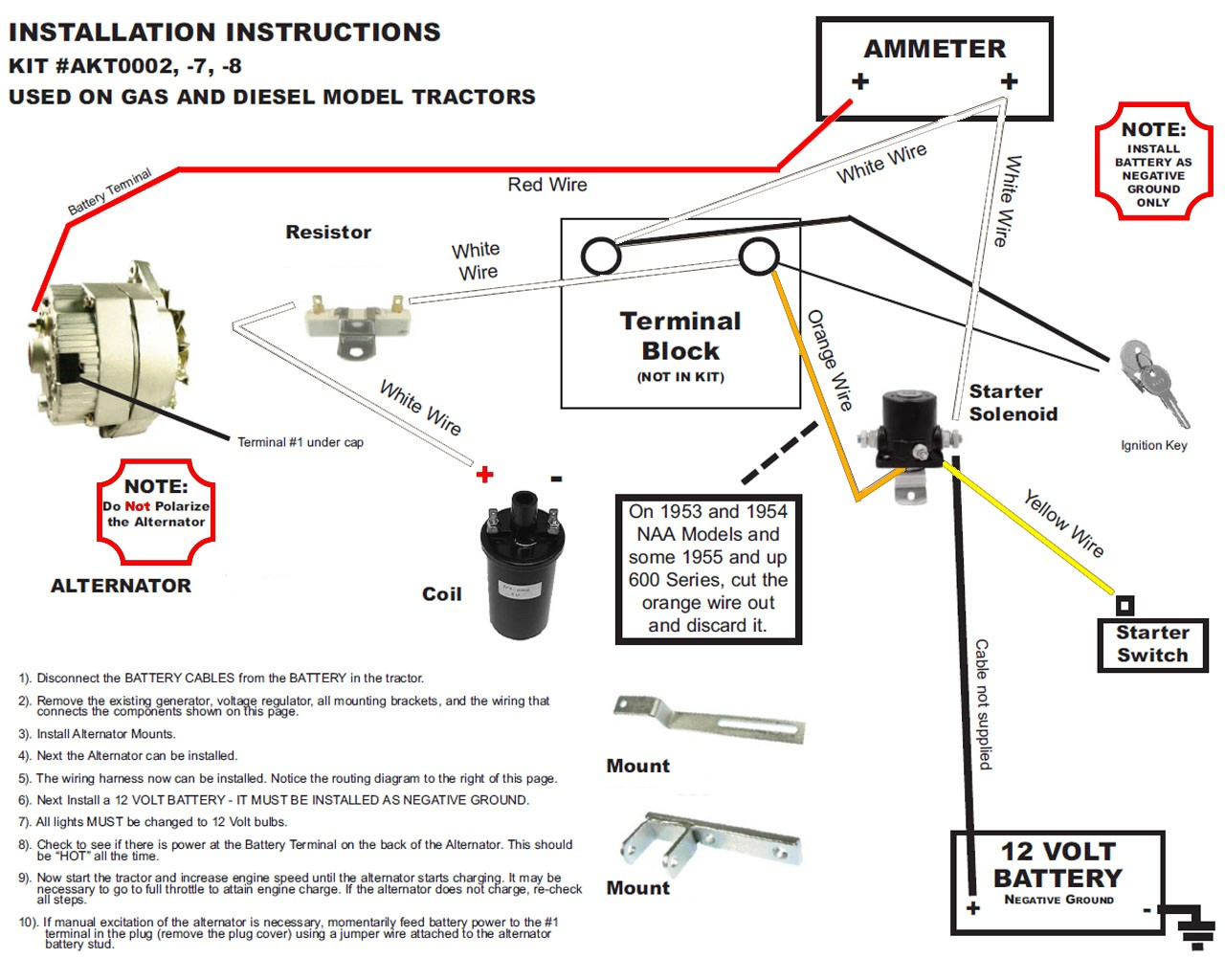 Ford Generator Wiring Diagram Tractor