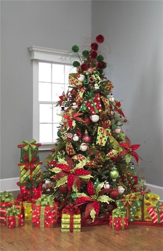 lime green and red christmas tree decorations. Black Bedroom Furniture Sets. Home Design Ideas