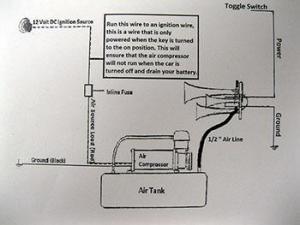 Truck Air Horn Diagram  Wiring Diagram