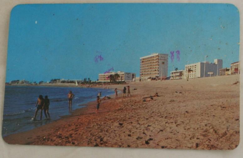vintage postcard, beach, Mazatlan, Mexico