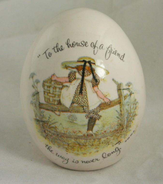 Holly Hobbie, ceramic egg, 1973