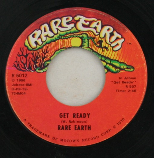 vintage 45 record, Rare Earth, Get Ready