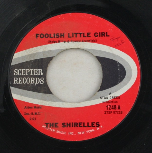 vintage 45 record, The Shirelles, Foolish Little Girl, Scepter Records