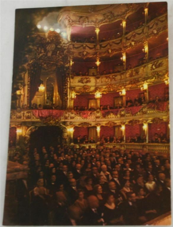 vintage postcard, Germany, Cuvillies Theatre,Munich, Bavaria