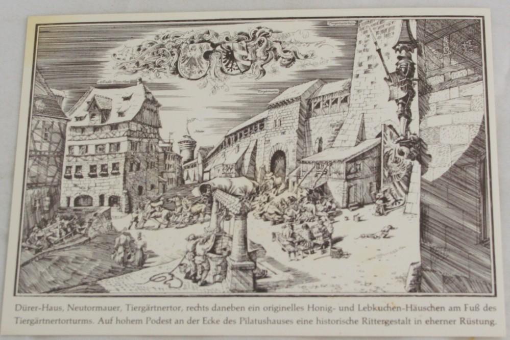 vintage postcard, Germany,  Nurnberg, Bavaria, Durer's House
