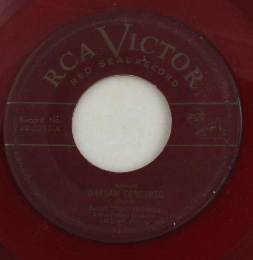 vintage record, Boston Pops Orchestra,Warsaw Concerto, 45, vinyl