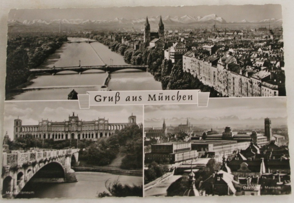 vintage postcard, Germany, Munich, Bavaria