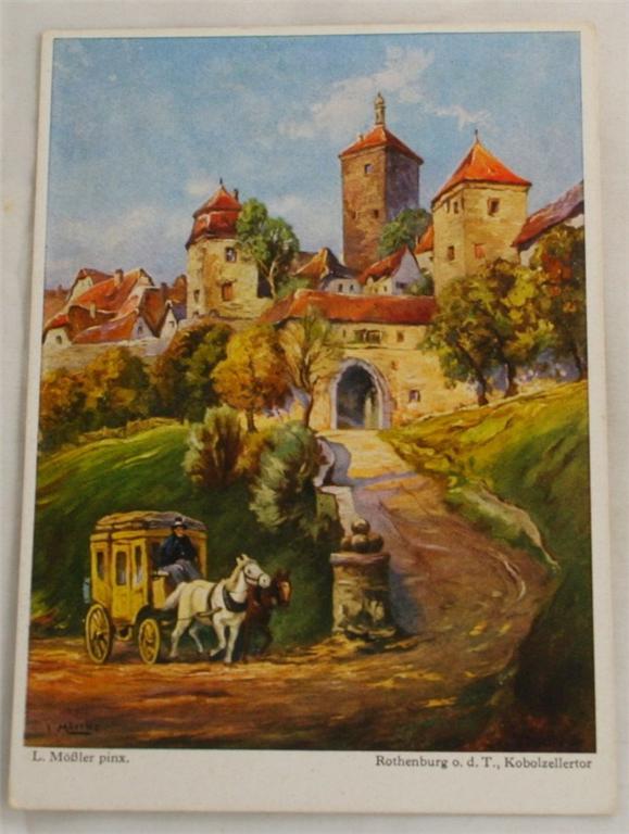 vintage postcard, Rothenburg, Rothenburg o.d.T.,L. Mossler, Bavaria, Germany