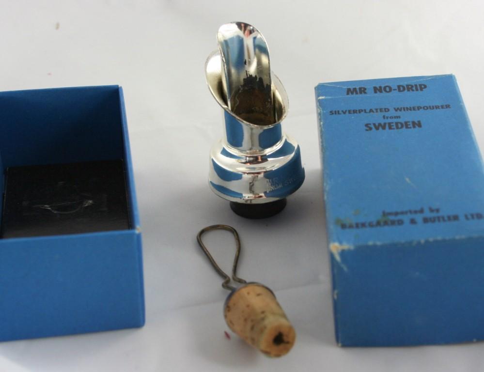 vintage silverplate, wine pourer,Baekgaard & Butler