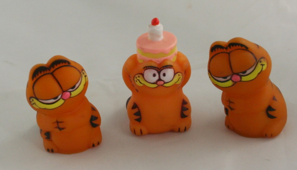 vintage figurine, Garfield, toy, vinyl