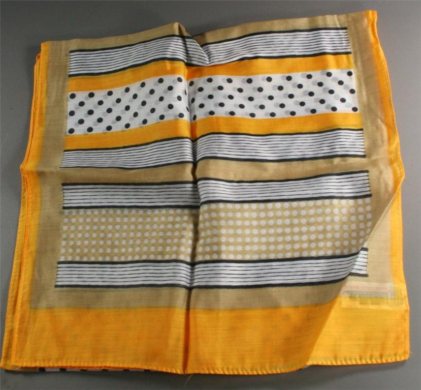 vintage scarf, rayon, nylon, blend, made in Japan