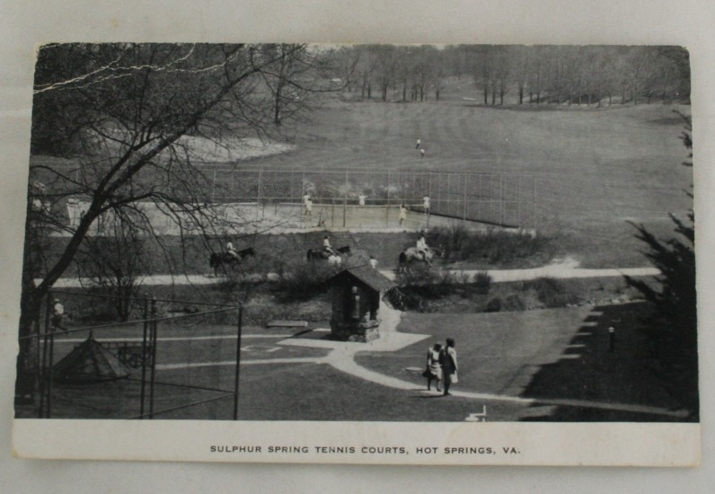 vintage postcard, Hot Springs, Virginia, VA, black, white, black and white