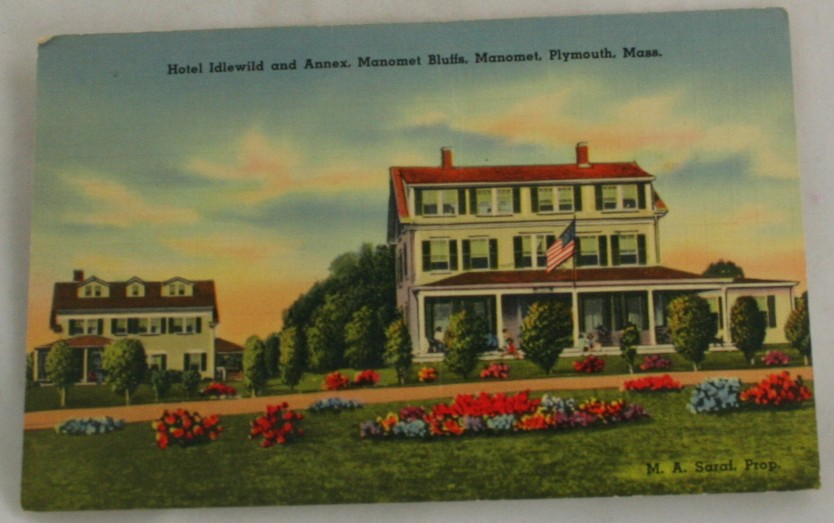 vintage postcard,Plymouth,Massachussets,MA, Hand colored, hand coloured