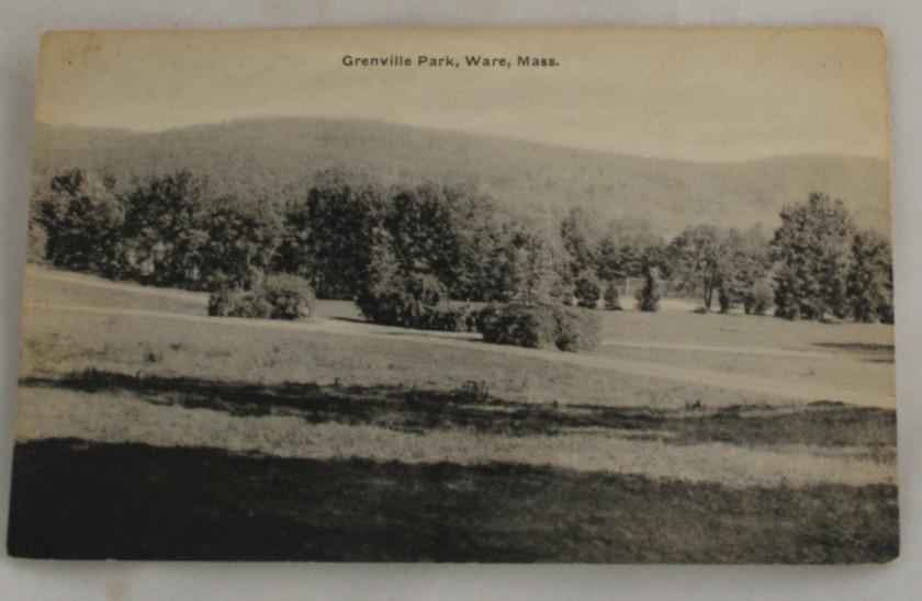 vintage postcard,Ware,Massachussets,MA,black,white, black & white, black and white