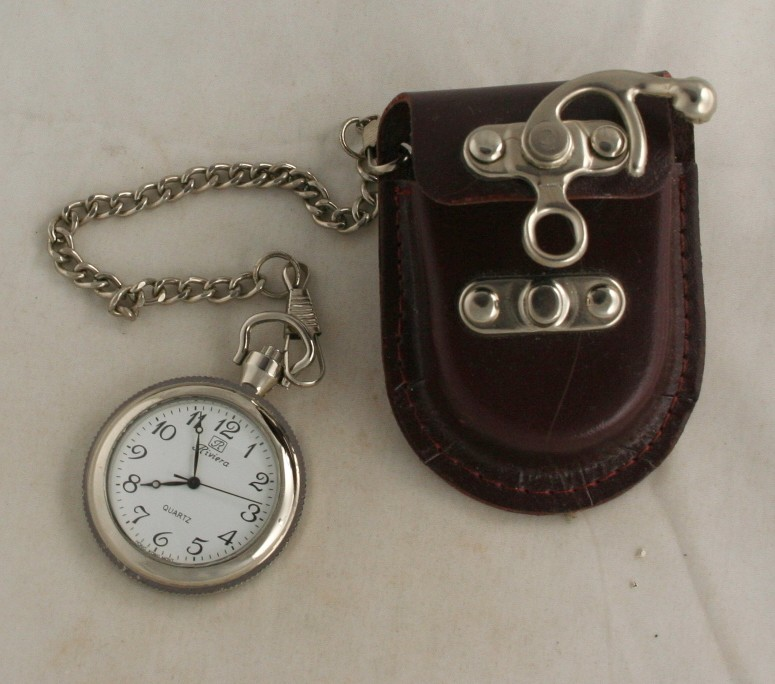 Men's accessory, leather, belt case, pocket watch, China, Riviera