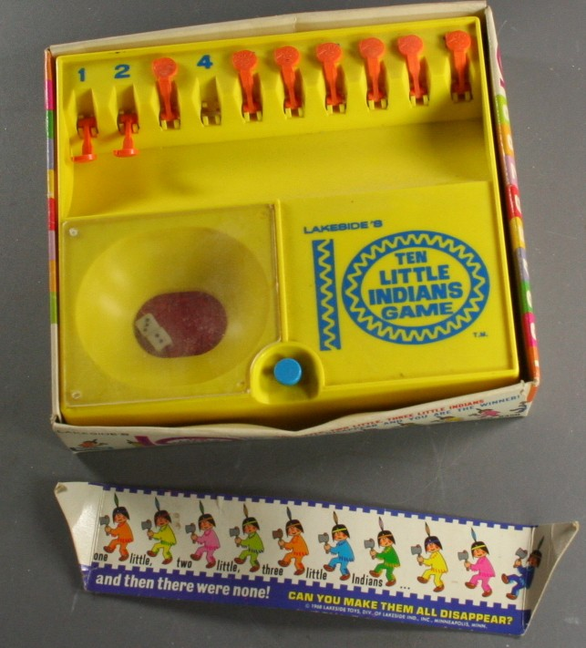 vintage toy,plastic,Lakeside,10 Little Indians,game