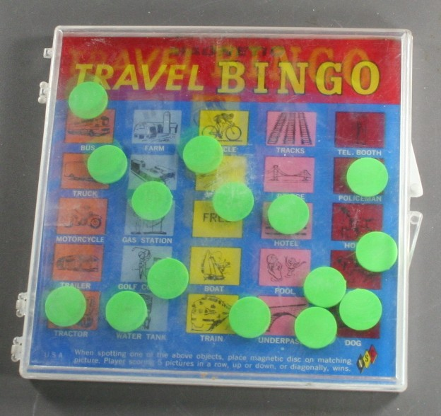 vintage toy,travel,bingo,magnetic,plastic,game