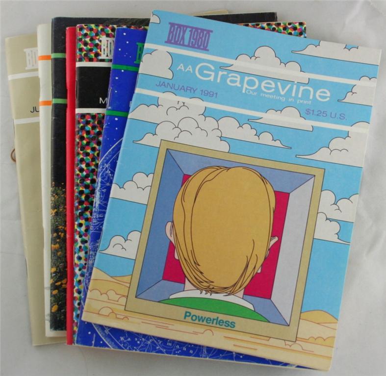 vintage magazines, AA Grapevine, 1991